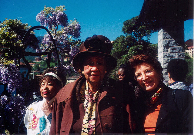 Dorothy Height and Mahnaz Afkhami in Bellagio, Italy, 2002