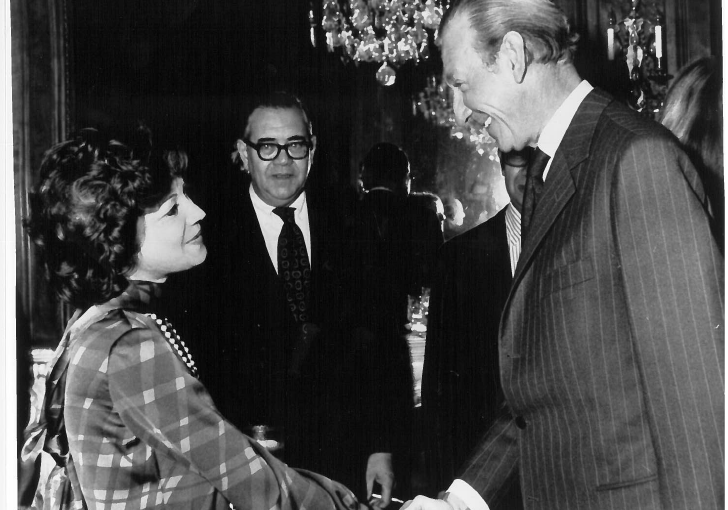 Princess Ashraf Shaking Hands With Kurt Waldheim, Secretary General of the United Nations