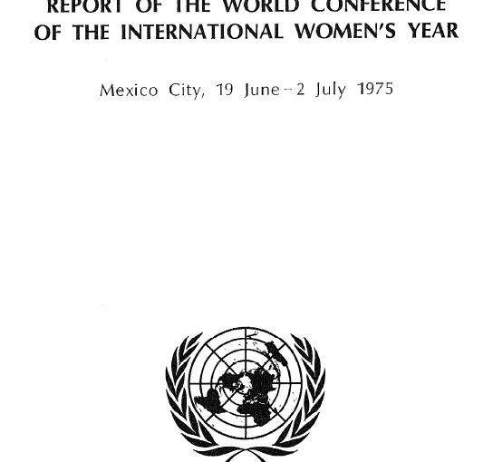 UN Report on International Women's Conference